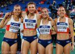 Récord de Chile en 4×400 femenino y paso a la Final B en Mundial de Yokohama