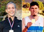 Isidora Jiménez y Enzo Faulbaum campeones nacionales en 200 metros planos
