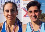 Alfredo Toledo y Josefa Quezada campeones nacionales en 1.500 metros planos